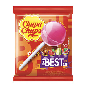 Chupa Chups Best Of Lollipop Bag  10pcs