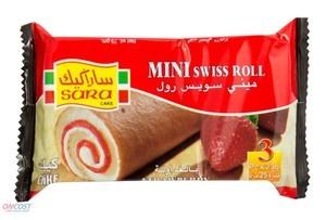 Sara Cakes Swiss Roll Strawberry 75g