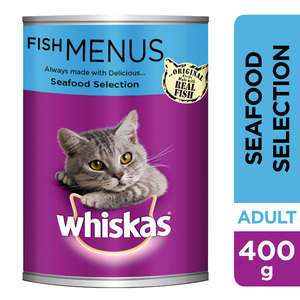 Whiskas Seafood Selection Wet Cat Food Can 400g
