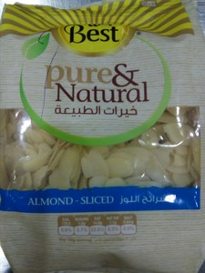 Best Pure & Natural Almond Sliced 150gm