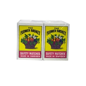 Flower Basket Safety Match Box Small 10s