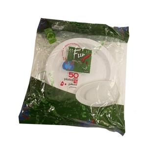 Fun 15cm White Plast Plate 50s