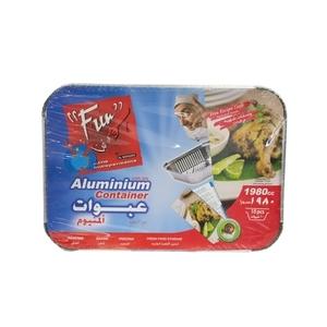 Fun Aluminium Cont W/Lid 10s