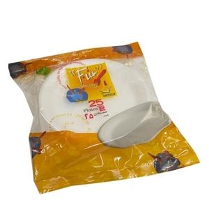 Fun Foam Plate White 25s
