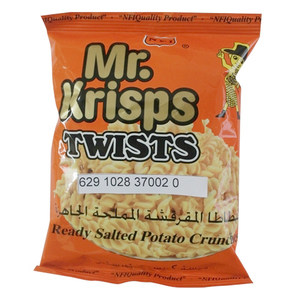 Mr.Krisps Potato Twists Salt 25x15g