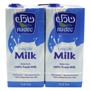 Nadec Uht Full Fat Milk 4x1L