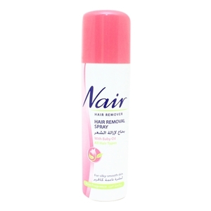Nair Hair Removal Spray With Baby Oil Rose Fragrance 200ml