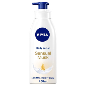 Nivea Sensual Musk Body Lotion With Musk Scent Normal To Dry Skin 400ml