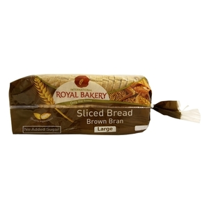 Royal Bakery Sliced Brown Bran Bread 625g