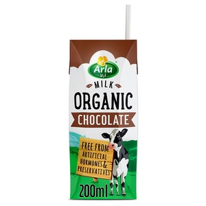 Arla Organic Long Life Chocolate Milk 200ml