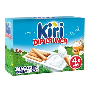Kiri Dip & Crunch Cream Cheese and Breadstick Snack 140g
