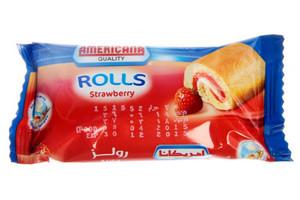 Americana Milky Rolls Strawberry 25g