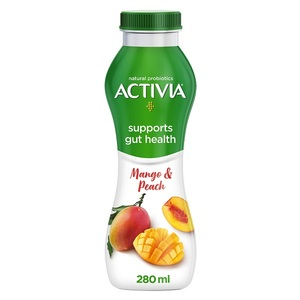 Activia YoghurtGo Drinkable Yoghurt Snack Peach Mango 280ml