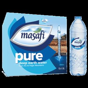 Masafi Pure Natural Water Low Sodium Carton 12x1.5L