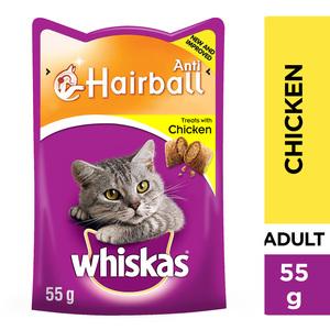 Whiskas Anti-Hairball With Chicken Cat Treats 55g