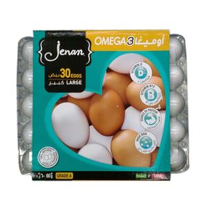 Jenan Wh/Br  Omega3 Eggs 30s L 30pcs