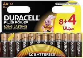 Duracell Battery Plus Power Aa 8+4 1pkt