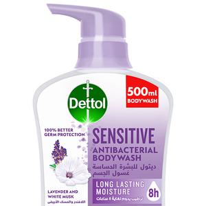 Dettol Sensitive Showergel & Bodywash Lavender & White Musk Fragrance 500ml