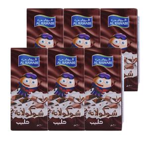 Al Rawabi Chocolat Milk 6x200ml