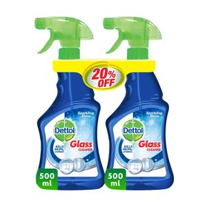 Dettol Glass Cleaner Sparkling Shine Twin Pack 2x500ml