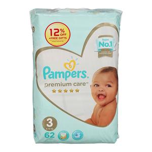 Pampers Premium Care Medium S3 62s