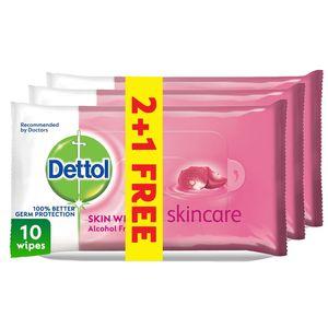 Dettol Skincare Antibacterial Skin Wipes 3x10s
