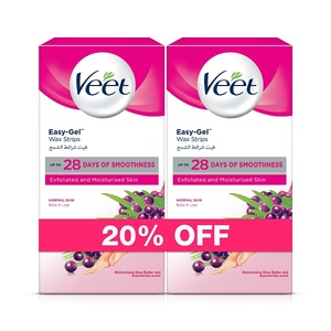 Veet Hair Removal Coldwax Strips Normal Skin 20pcs