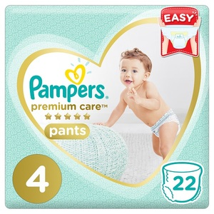 Pampers Premium Care Pants Diapers Size 4 Maxi 9-14 Kg Carry Pack 22 pcs