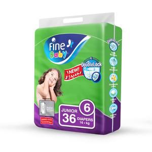 Fine Baby Diapers DoubleLock Technology Size 6 Junior 16kg + Jumbo Pack 36s