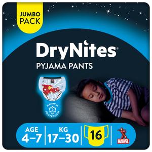 Huggies Drynites Boys Pyjama Pants Age 4-7 Years 17-30 kg 16pcs