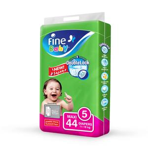 Fine Baby Diapers DoubleLock Technology Size 5 Maxi 11 to 18kg Jumbo Pack 44s