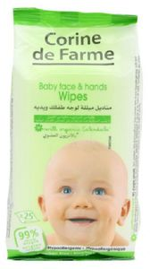 Corine De Farme Baby Face And Hands Wipes 25s