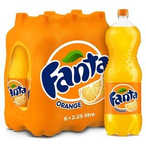 Fanta Orange Pet Bottle 6x2.25L