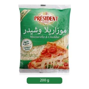 Shredded Mix Mozzarella+Chedar 200gm