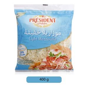 President Shredded Mozzarella Light  400g