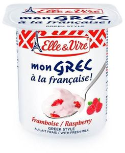 Elle & Vire Greek Yogurt Raspberry 125g