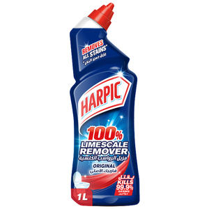 Harpic Toilet Cleaner Liquid Limescale Remover Original 1L