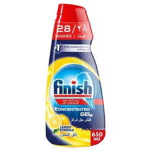 Finish Diswasher Gel Lemon 650ml