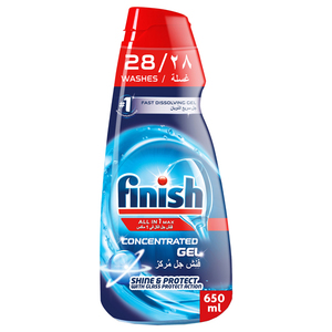 Finish All In One Max Concentrated Gels Regular 650ml