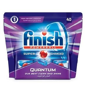 Finish Dishwasher Detergent Quantum Max Tabs Original 40s