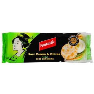 Fantastic Rice Crackers Sr Cream & Chives 100gm