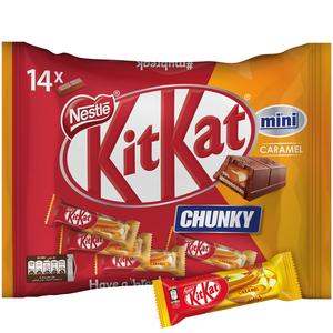 KitKat 2 Finger Chunky Caramel Mini Milk Chocolate Wafer Bag 250g