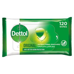 Dettol Original Anti-Bacterial Multi Use Wipes 120s