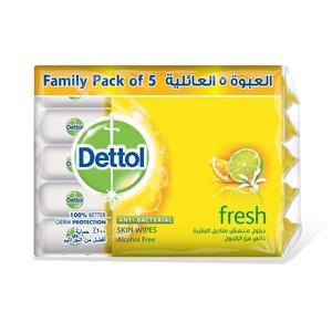 Dettol Skin Wipes Lemon Scent 5x10s
