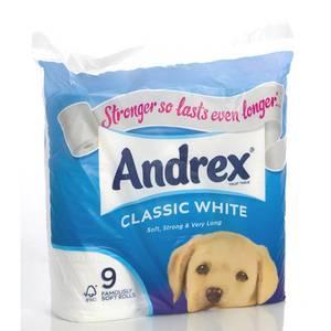 Andrex Toilet Tissue White 9rolls