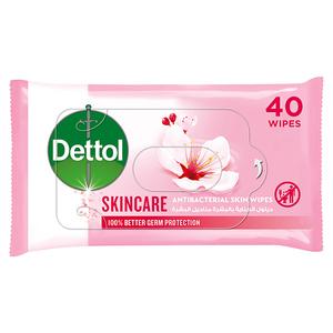 Dettol Skincare Antibacterial Skin Wipes 40s