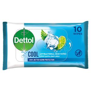 Dettol Cool Antibacterial Skin Wipes 10s