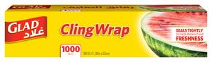 Glad Cling Wrap 1000 Sqft 6pc