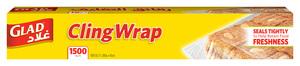 Glad Cling Wrap 1500 Sqft 6pc