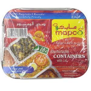 Mapco Aluminium Container With Lid 10pc
